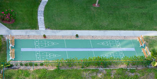 View of Shuffleboard Court Royalty Free Stock Image
