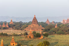 View from the Shwe Sandaw Pagoda during sunset in Bagan, Myanmar Royalty Free Stock Photo