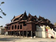 View of Shwe Yan Phe Monastery in Nyaung Shwe, Myanmar Stock Image
