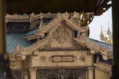 View of Shwedagon Pagoda, Yangon, Myanmar. View of the Shwedagon Pagoda, with its temples and golden pagoda. In the city of Yangon, Rangun, Myanmar royalty free stock photography