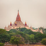 View from the Shwesandaw pagoda. Royalty Free Stock Photography