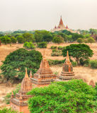 View from the Shwesandaw pagoda. Royalty Free Stock Photo