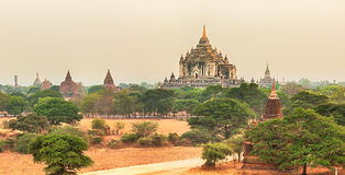 View from the Shwesandaw pagoda. Panorama Royalty Free Stock Photo
