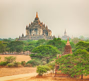 View from the Shwesandaw pagoda. Panorama Stock Image
