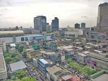 View of Siam Square, Bangkok from 18th floors building. View of Siam Square, Bangkok Royalty Free Stock Photo