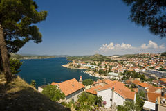 View on the Sibenik and the canal Stock Images