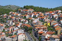 View at Sibenik in Croatia Royalty Free Stock Photo