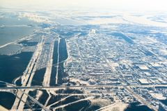 Siberian city Surgut is the capital of the oil and gas region. stock photo