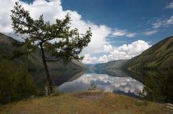 View on Siberian mountain  Lake Stock Photo