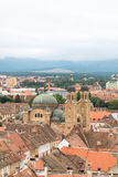 View of Sibiu. View of the orthodox church from Sibiu,Romania-The European Cultural Capital in 2007 Stock Images