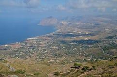 View of sicilian coast Stock Image