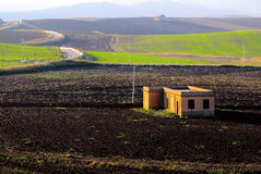 View of Sicilian countryside Stock Photo