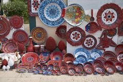 View of sicilian pottery stock photo