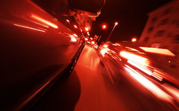 View from Side of Car Going Blurred Motion. Royalty Free Stock Images