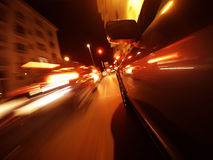 View from Side of Car Going Blurred Motion. Stock Images