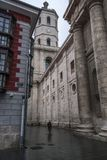 View of the side of the Cathedral of Valladolid. Spain Royalty Free Stock Photo
