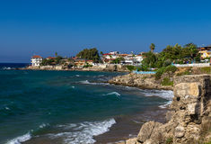 View of Side, Turkey. Beach view of Side, Turkey Stock Photography