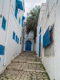 View of Sidi Bou Said in Tunisia Royalty Free Stock Images