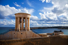 View of Siege Bell Memorial. In Valletta. Malta Royalty Free Stock Images