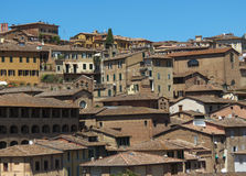 View of Siena old city centre Royalty Free Stock Photos
