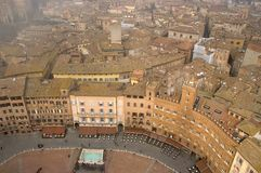 View Siena From Torre Del Mangia Stock Images