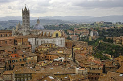 View of Siena town. Royalty Free Stock Image