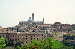 The view of Siena. Town in Italy Stock Photos