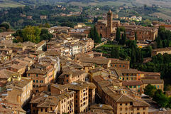 View of Siena town. Tuscany, Italy. Stock Photos