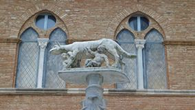 View on Siena she-wolf stock photography