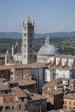 View of Sienna Cathedral in Tuscany Stock Image