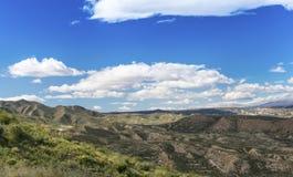 View from Sierra Cabrera towards Sorbas Stock Photo