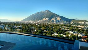 View of the Sierra Las Mitras royalty free stock image