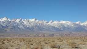 View at Sierra Nevada. Mountains from Owens Valley, California stock video