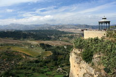 View of Sierra Subbetica from Ronda mirador Royalty Free Stock Photo