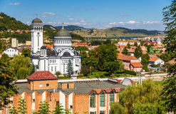 View of Sighisoara, a town in Transylvania Royalty Free Stock Images