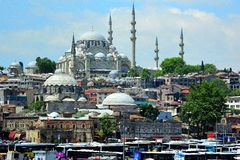 View and sight of Bosphorus, Istanbul, Turkey. Blue  Mosque. stock images