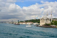 View and sight of Bosphorus, Istanbul, Turkey stock image