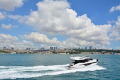 View and sight of Bosphorus, Istanbul, Turkey stock photography