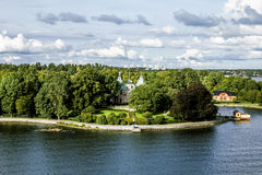 View the sights and the coastal area in Central Stockholm.Sweden Stock Photography