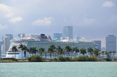 View of the sightseeing cruise in Miami Royalty Free Stock Photography