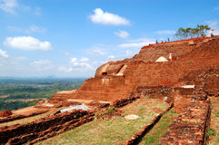 The view from Sigiriya (Lion's rock) is an ancient rock fortress Stock Photography