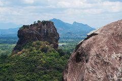 View on Sigiriya Rock Lion Rock . stock image