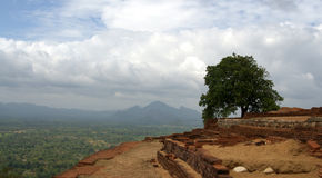 View from Sigiriya Rock, Sri Lanka Royalty Free Stock Image