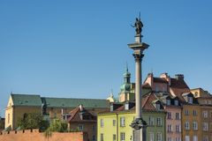 View of Sigmund's Column on the Castle Square, Warsaw Stock Image