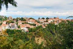 View of Signagi or Sighnaghi city. Georgia royalty free stock images