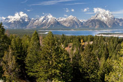 View from Signal Mountain. View of Grand Tetons from Signal Mountain Royalty Free Stock Image