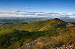 View of the Sikhote-Alin Mountains in the evening. Royalty Free Stock Photography