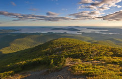 View from the Sikhote-Alin mountains to the coast. royalty free stock images