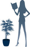 The view of silhouette woman Royalty Free Stock Images