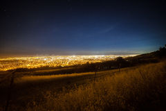 View of the Silicon Valley stock photography